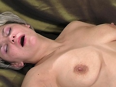 Unruly girl tutored in dildo toying