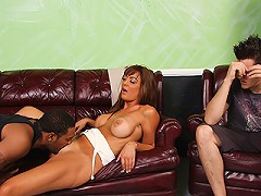 Forced to watch Cougar Mom fuck black interracial