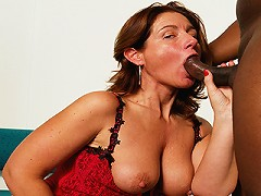 Manuela is over 50 with a love for black meat!