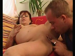 Young muff diver pleasures a juicy chubby mommy
